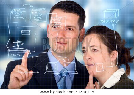 Business Partners Analyzing A Database Structure