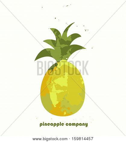 Pineapple vector icon. Pineapple logo. Healthy food. The idea for the design