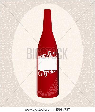 Bottle of wine Blank  lable