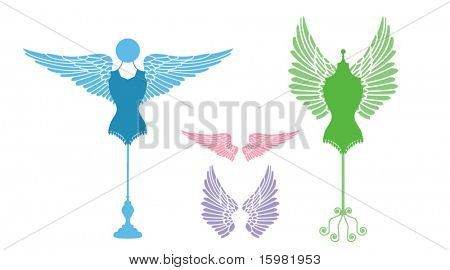 bodyforms with wings (interchangeable)