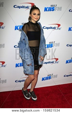 LOS ANGELES - DEC 2:  Daya at the 102.7KIIS FM's Jingle Ball 2016 at Staples Center on December 2, 2016 in Los Angeles, CA