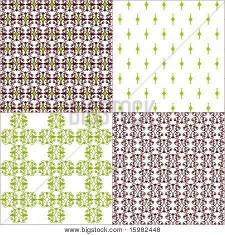 set of 4 patterned backgrounds - each different but on the same theme
