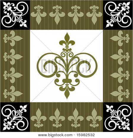 fleur de lis pattern on Etsy, a global handmade and vintage