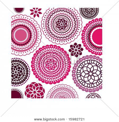 flower pattern background (remove clip masks for full flowers