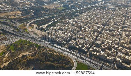 TEHRAN IRAN View of Tehran from the Milad Tower - Iran