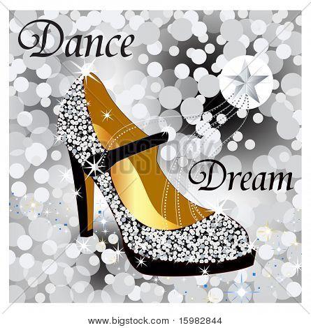 sparkle glitter shoe