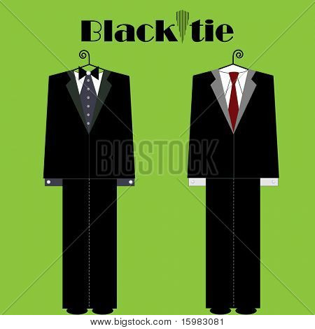 黑色领带男性适合时尚