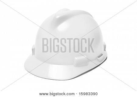 isolierten weißen Helm