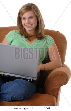 Woman And Computer