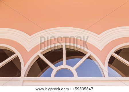 Top part of window on top of door of Chino-Portuguese architectural style