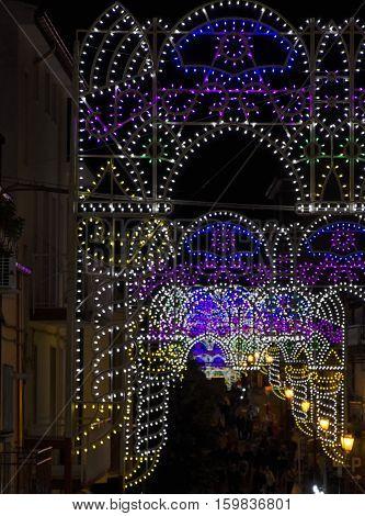The luminarie for the St. Albert saint's day