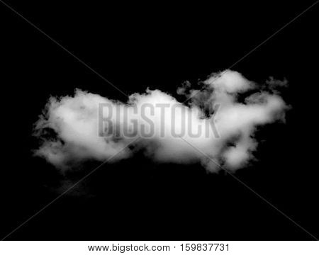 white Clouds isolated on the black background.