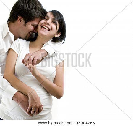 Casal jovem grávida