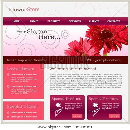 Flower concept web design template