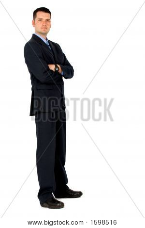 Confident Business Man - Full Body Portrait