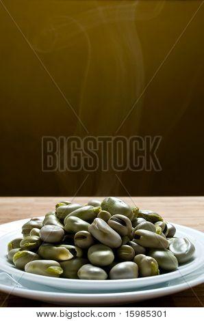 Ecuadorian food series: hot lima beans on a plate