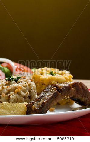 Ecuadorian food series: pork rib with corn salad