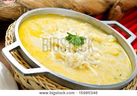 """Ecuadorian food series: potato soup or """"locro"""""""
