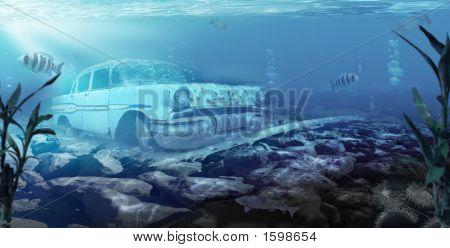 Car Under Water