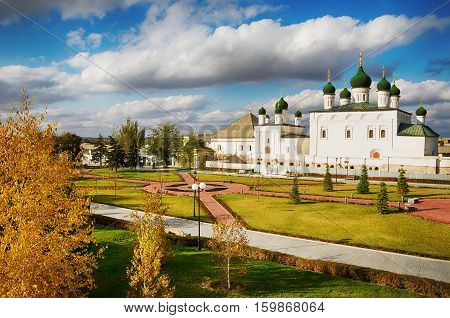 Astrakhan Kremlin Russia. The Cathedral of the monastery of the Trinity