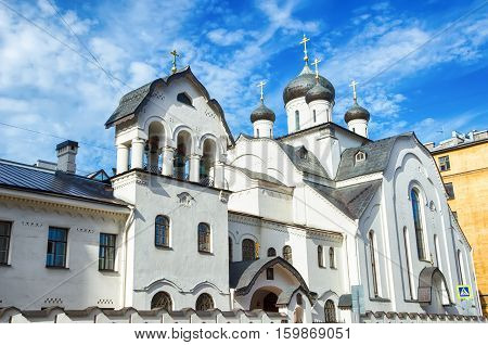 The old Believers Church of the Mother of God Holy Pomeranian Znamenskaya church. SAINT-PETERSBURG RUSSIA.