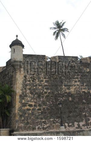The Wall And Sentry Post Old San Juan