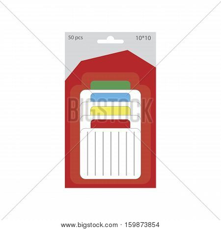 Memo pads illustration. Writing pads on the white background. Vector illustration