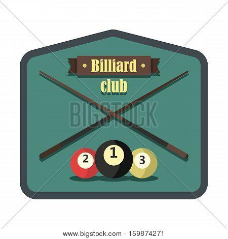 Retro vintage emblem billiard game. Billiard labels for you design banners infographics.