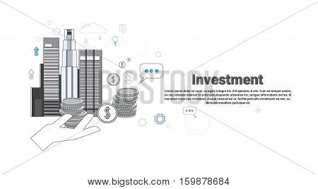 Investment Money Investor Business Web Banner Vector Illustration