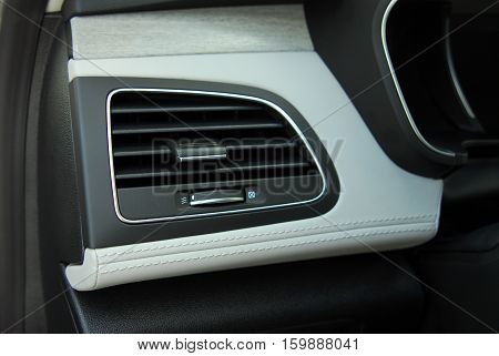 Car air condition system fan close up