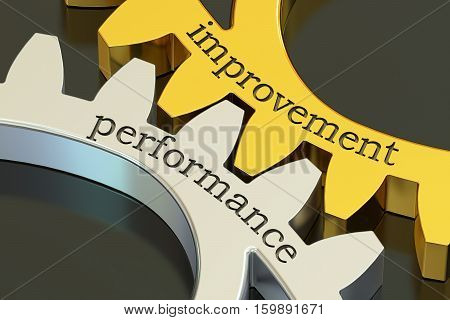 Improvement Performance concept on the gearwheels 3D rendering