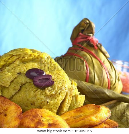 Traditional Peruvian food called Juane
