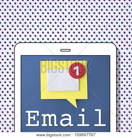 Email Conversation New Message Concept