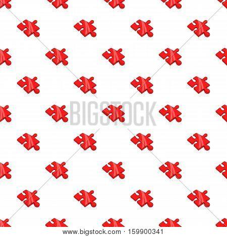 Piece of puzzle pattern. Cartoon illustration of piece of puzzle vector pattern for web
