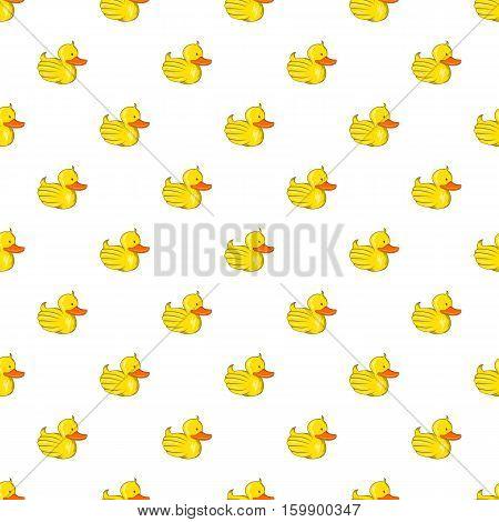 Rubber duck pattern. Cartoon illustration of rubber duck vector pattern for web