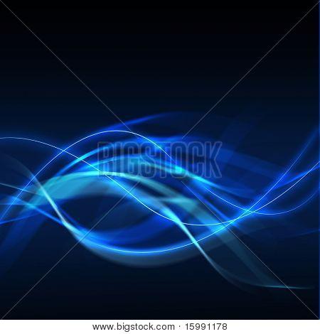 Abstrakt blau Wellen Hintergrund