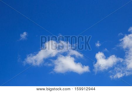 Blue sky with white cloud background for any design. sky background with copy space