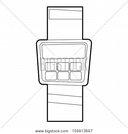 Cashier icon. Outline illustration of cashier vector icon for web