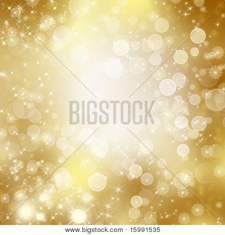 Sternen absteigend auf goldenem Grund