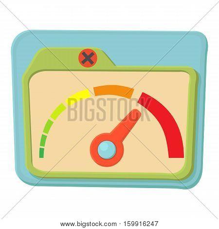 Indicator icon. Cartoon illustration of indicator vector icon for web