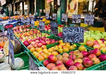 Apples In The Vienna Market