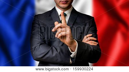 French Candidate Speaks To The People Crowd