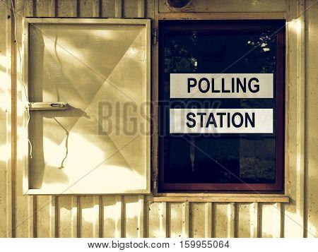 Vintage Looking Polling Station