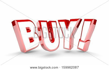 Buy Order Purchase Product Customer Word 3d Illustration