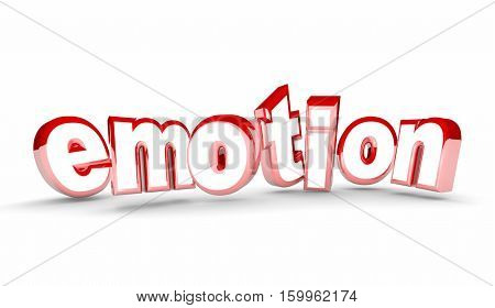 Emotion Feelings Happy Sad Joy Depression Word 3d Illustration