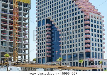 The Skyscrapers In Tel Aviv, Israel