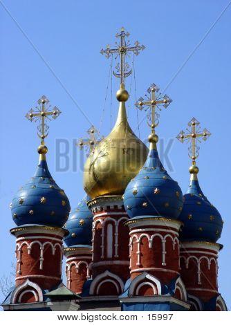 Kuppeln in alten Moskau