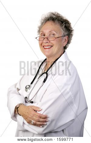 Mature Female Doctor Confident