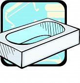stock photo of clawfoot  - Luxurious bathtub - JPG