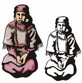 picture of cree  - Illustration of an indian woman - JPG